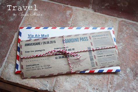 invitation faire part boarding pass anniversaire theme