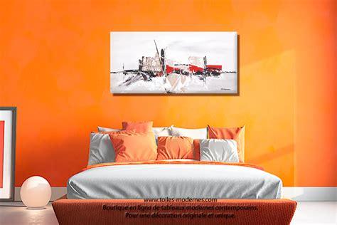 tableau deco chambre tableau taupe gris moderne 224 reliefs grand format rectangle pour d 233 coration design