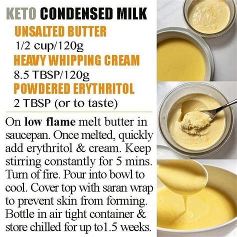 Each have just under 1 g carb per 2 tablespoons. KETO CONDENSED MILK 💗 (Swipe for tutorial vids) This truly is, one of my personal keto treats to ...