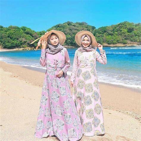 tampil kece  pantai   tips padu padan gaya wanita berhijab  pantai  trendi jaman