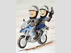 Motorrad CartoonKarikatur