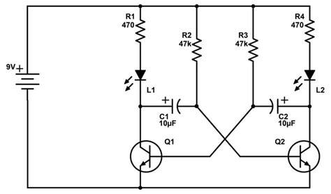 How Astable Multivibrator Circuits Work Build Electronic