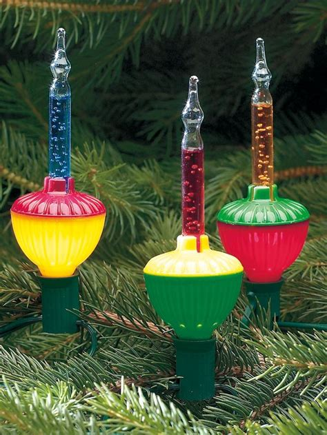 colored bubble lights christmas tree decorations