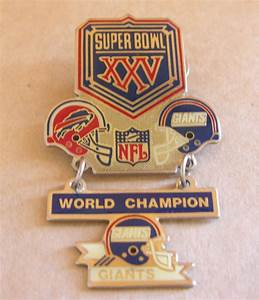 NFL Super Bowl XXV 25 Giants World Champion Lapel Pin ...