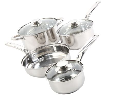 pans pots cooking stick stainless steel non cookware kitchen