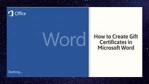 How To Create Gift Certificates In Microsoft Word 2010
