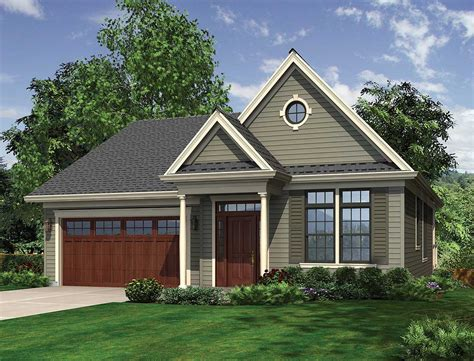 Colonial Plan For A Down Slope  69262am  Architectural