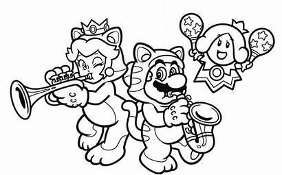 Coloring Nintendo Pages Mario Super 3d Cat
