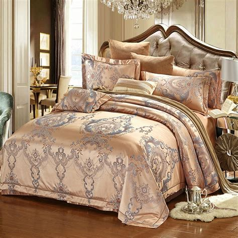 European Style Luxury Bedding Sets Jacquard Cotton Queen
