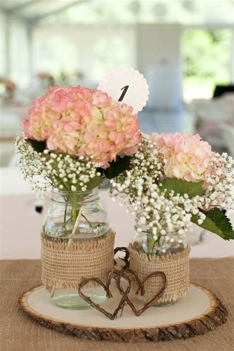 centerpieces for our rustic country bridal shower mason