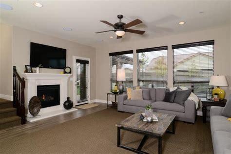 transitional living room  heather gray sofas hgtv
