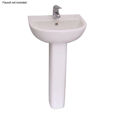 pedestal bathroom sink at home depot barclay products compact 450 18 in pedestal combo