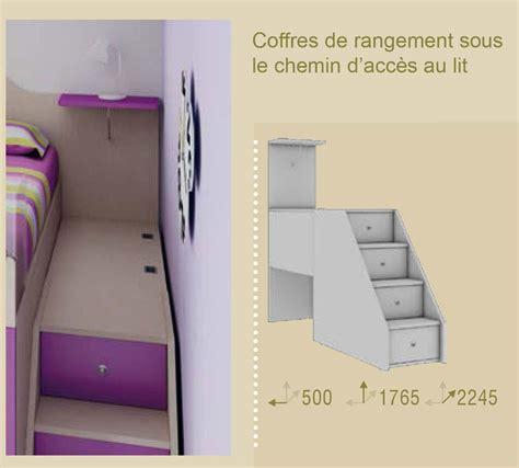 lit mezzanine canapé chambre enfant colorée compact pratique