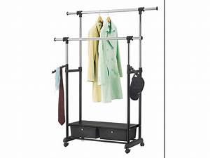 Portant Vetement Leroy Merlin : awesome double portant extensible portant vtements ~ Nature-et-papiers.com Idées de Décoration