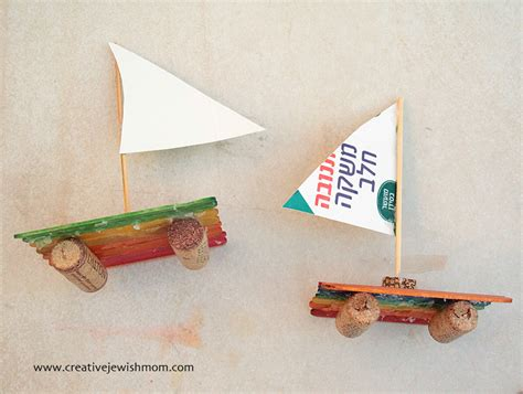Wine Cork Boat Craft by Popsicle Stick Sailboat Craft For Creative