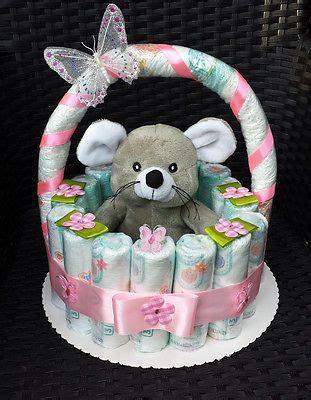kleines geschenk zur taufe windeltorte korb rosa geburt taufe geschenk f 252 r m 228 dchen baby pers geschenke