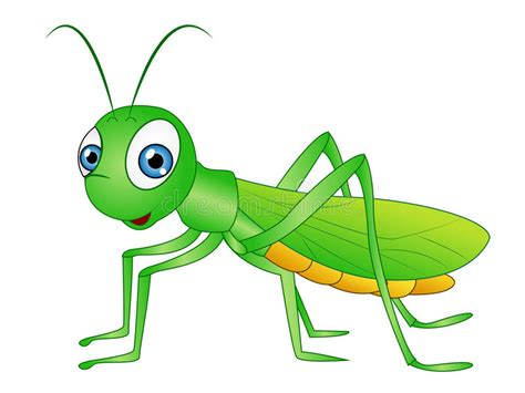 Cartoon Grasshopper Clip Art Stock Illustration