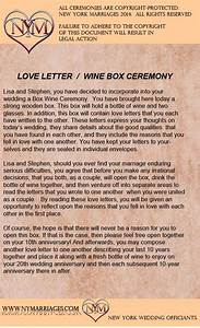Wine box love letter ceremony sample wedding ceremonies for Love letter unity ceremony