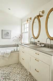 Home Depot Bathroom Sinks And Countertops by White Vanity With Brass Pulls Transitional Bathroom