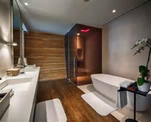 Bagno azzurro e legno : Bagni moderni