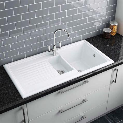 Reginox White Ceramic 15 Bowl Kitchen Sink At Victorian