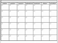 Generic Weekly Calendar Template Free Calendar Template
