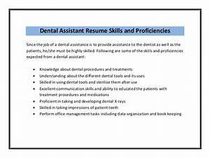 dental assistant resume sample pdf With dental assistant resume skills