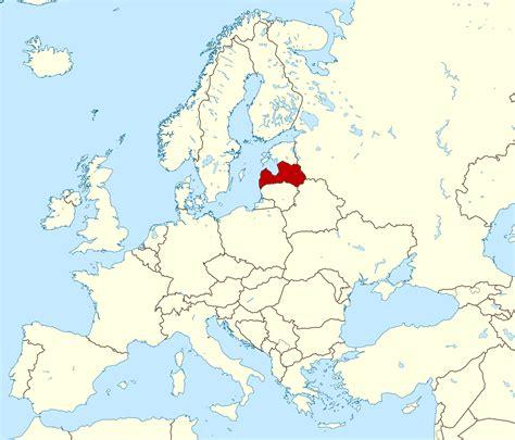Large detailed location map of Latvia. Latvia large ...