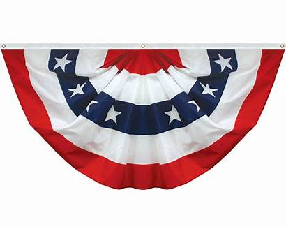 Fan Patriotic Pleated Bunting Flags Stars Stripes