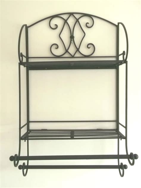 shabby chic bathroom design shabby chic black metal wall shelf towel rail amazing