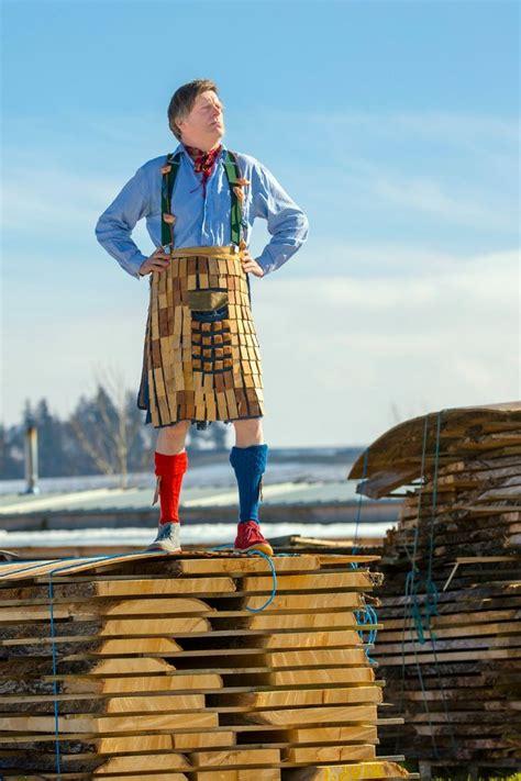 wooden kilt  national tartan day news