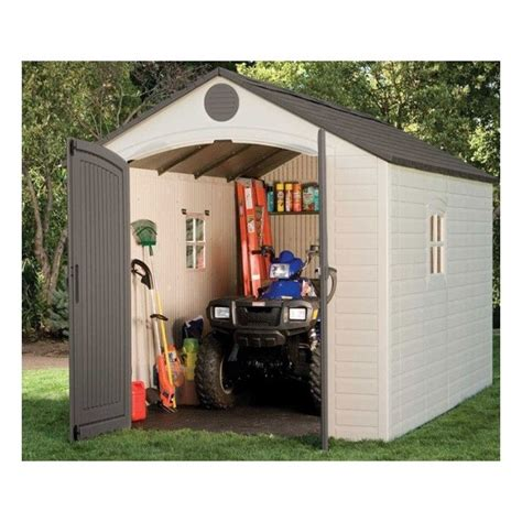 lifetime 8x12 5 ft plastic storage shed kit 6402