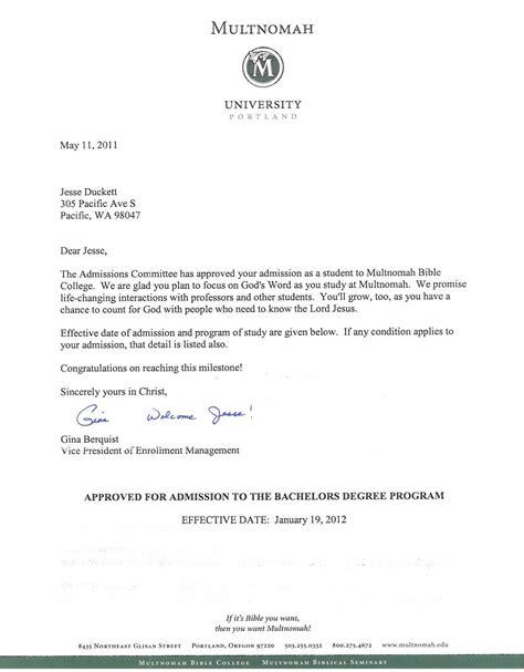 letter   university  admission