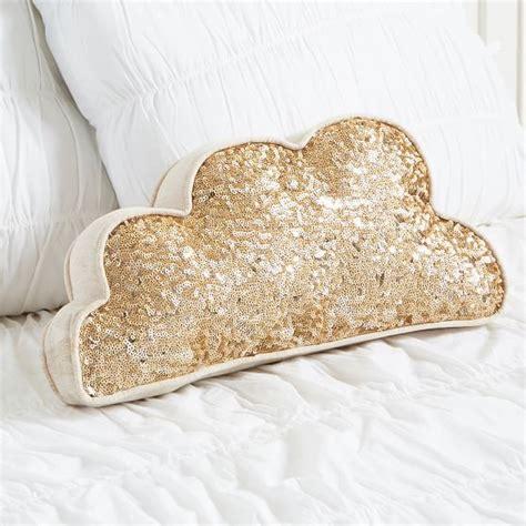 gold sequin pillow sequin cloud pillow pbteen