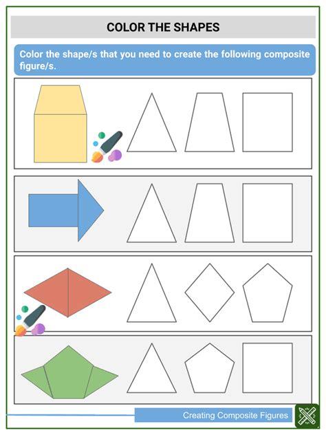 creating composite figures st grade math worksheets