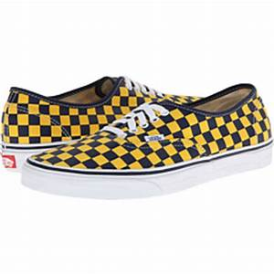 Vans Authentic™ Golden Coast Dress Blues Yellow Checker