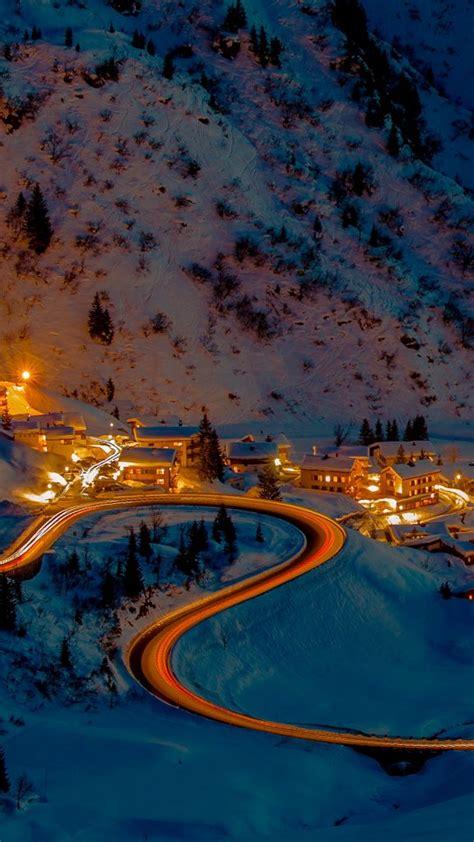village stuben  arlberg  mountain pass