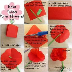 7 Steps For Making Tissue Paper Flowers