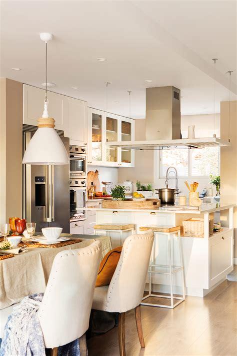 cocinas muebles decoracion diseno blancas  pequenas