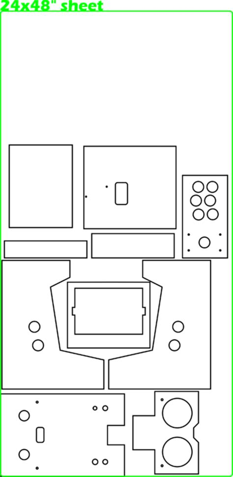 Mame Cabinet Plans Cad by 100 Mame Cabinet Plans Cad Diy Arcade Cabinet Kits