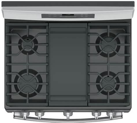 ge jgbsejss   freestanding gas range  edge  edge cooktop gas convection extra