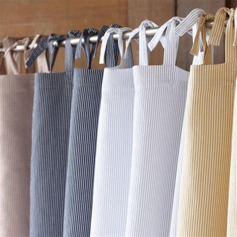 coyuchi mini stripe cotton and linen shower curtain color