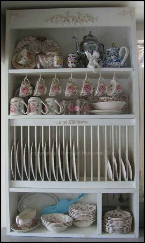 build   plate rack cabinet  images diy plate rack