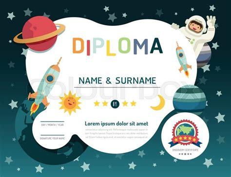 certificate kids diploma kindergarten template layout