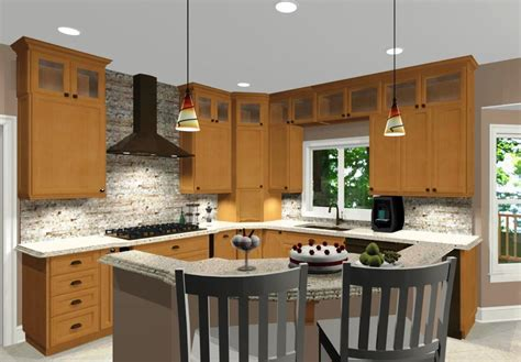 L Shaped Kitchen Island Designs With Seating  Home Design