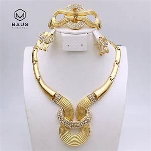 2017 new design good quality parure bijoux femme plaque or With parure bijoux femme