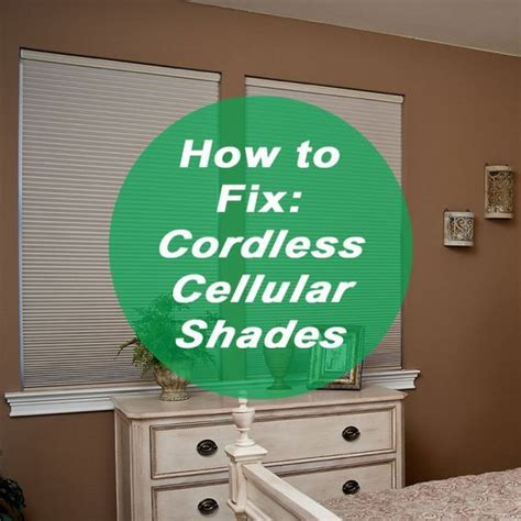 how to fix blinds to fix shades and cellular shades on