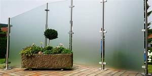 Reinigungsmittel Für Pflastersteine : 6 gute gr nde den sichtschutz aus glas f r ihre terrasse zu w hlen ~ Yasmunasinghe.com Haus und Dekorationen