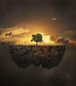 Morceaux De Craie De Briançon : photo cet arbre sur ce morceau de terre semble sortir d ~ Dailycaller-alerts.com Idées de Décoration