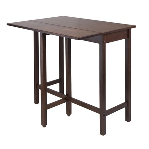 drop leaf high table winsome wood lynnwood drop leaf high table with free